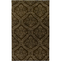 Hand-tufted Averlo Brown Area Rug (8' x 10') - Thumbnail 0