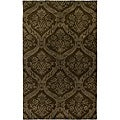 Hand-tufted Averlo Brown Area Rug (8' x 10')