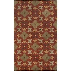 Hand-tufted Averlo Rust Rug (8' x 10')