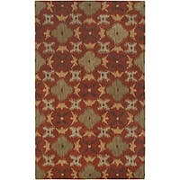 Hand-tufted Averlo Rust Rug (8' x 10') - 8' x 10'