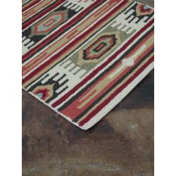 Hand-hooked Rancho Ivory/ Multi Rug (2'3 x 3'9)