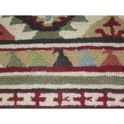 Hand-hooked Rancho Spice/ Multi Rug (2'3 x 3'9) - Thumbnail 1