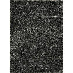 Seville Charcoal Shag Rug - 5' x 7'6 - Thumbnail 0