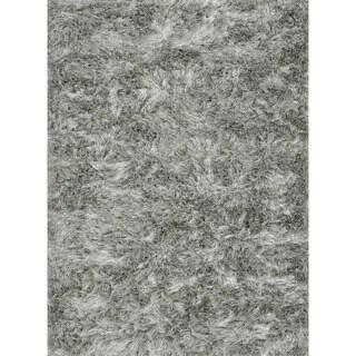 Seville Silver Shag Rug (3'6 x 5'6)