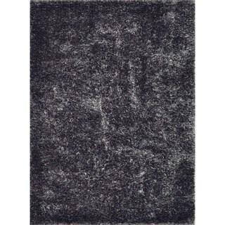 Seville Plum/ Grey Shag Rug (5' x 7'6)