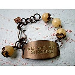 Aragonite 'You are my Sunshine' Vintage Bracelet