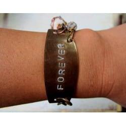 Amethyst and Quartz 'Forever' Vintage Bracelet - Thumbnail 2