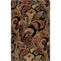 Hand Tufted Black Wool Ages Area Rug (8' x 11')