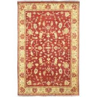 Hand Knotted Red Wool Antolya Area Rug (2'6 x 8')