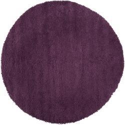 Hand Tufted Purple Wool 'Stalacpipe' Rug (8' Round)