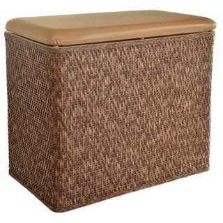LaMont Home Carter Cappuccino Bench Hamper