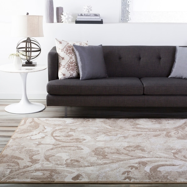 Beige Vintage Scoth Abstract Area Rug - 7'10 x 10'