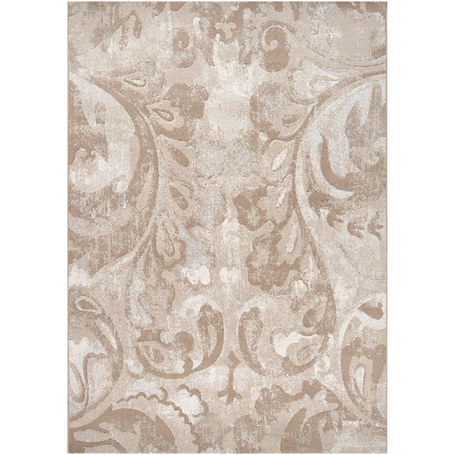 Beige Vintage Scoth Abstract Area Rug (7'10 x 10')