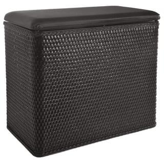 LaMont Home Carter Black Bench Hamper|https://ak1.ostkcdn.com/images/products/6479712/P14073152.jpg?impolicy=medium