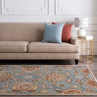 Hand-tufted Wool Blue Auld Area Rug - 5' x 8'
