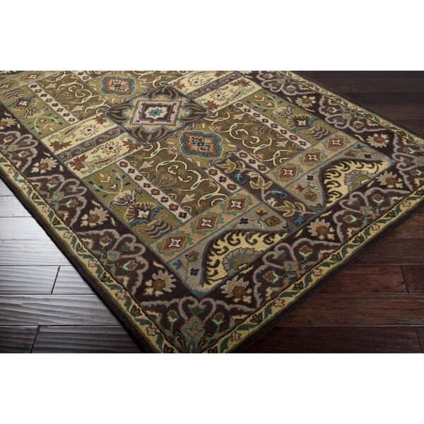 Hand-tufted Brown Navi Wool Area Rug (5' x 8')