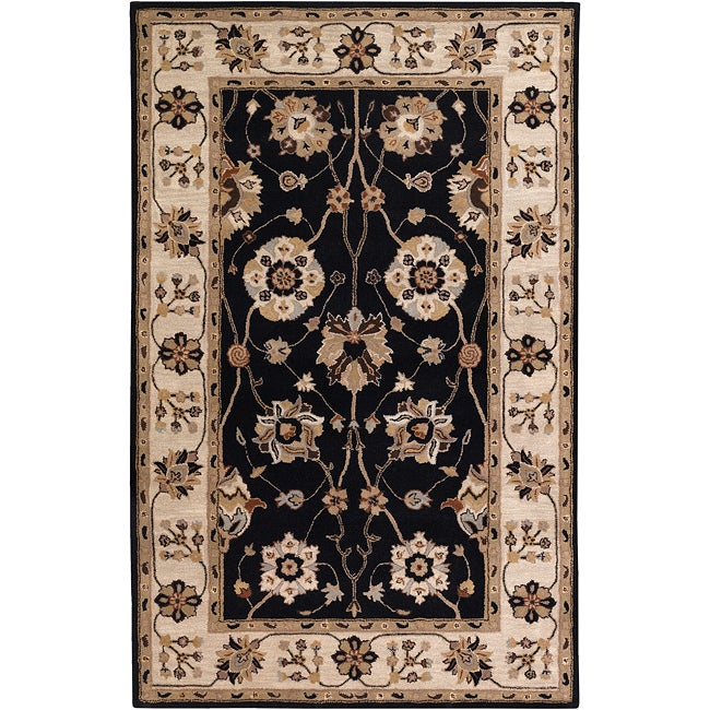 Hand-tufted Black Mayyou Wool Rug (9' x 12')