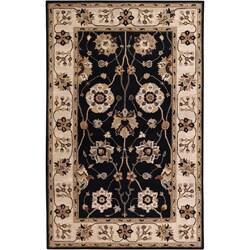 Hand-tufted Black Mayyou Wool Area Rug (9' x 12') - Thumbnail 0