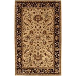 Hand-tufted Gold Crath Wool Rug (12' x 15')