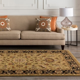Hand-tufted Gold Crath Wool Area Rug - 12' x 15'