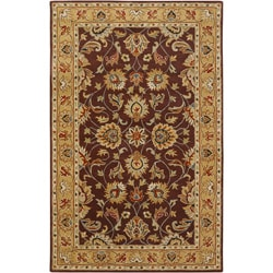 Hand-tufted Plum Surface Wool Rug (12' x 15')