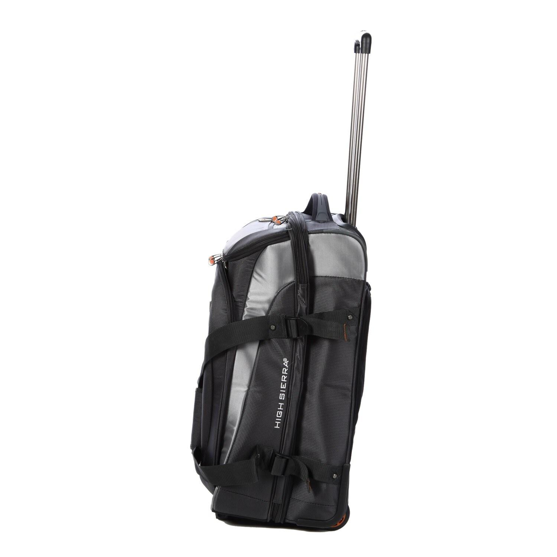 High Sierra ATQ 26-inch Carbon Grey Drop-bottom Rolling Duffel Bag