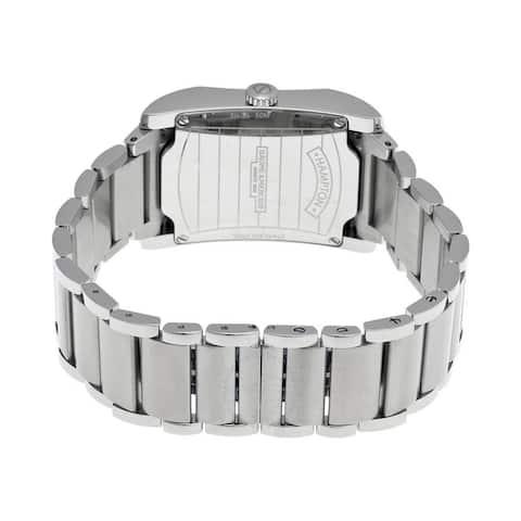 Baume & Mercier Men's 'Hampton' Grey Dial Stainless Steel Watch