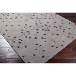 Hand-tufted 'Smash' Grey Wool Rug (8' x 11') - Thumbnail 1