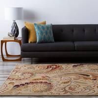 Hand-tufted 'Envoy' Beige Wool Area Rug (8' x 11')