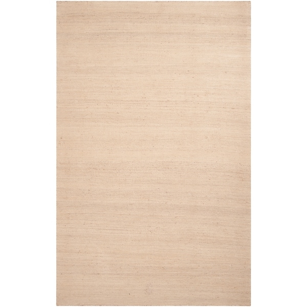 Hand-woven Beige Chile Reversible Jute Area Rug - 5' x 8'
