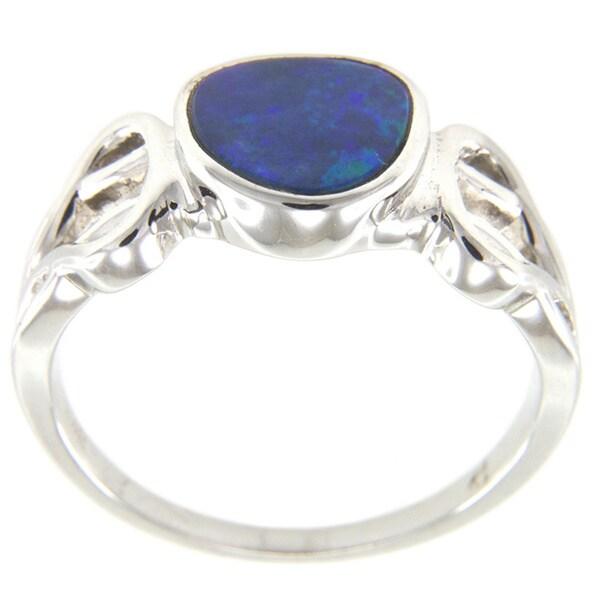 Pearlz Ocean Sterling Silver Boulder Opal Ring