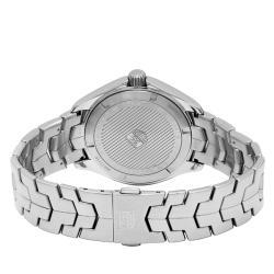 Tag Heuer Men's WAT1110.BA0950 'Link' Black Dial Stainless Steel Quartz Watch - Thumbnail 1