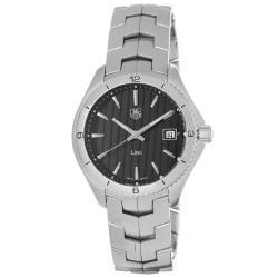 Tag Heuer Men's WAT1110.BA0950 'Link' Black Dial Stainless Steel Quartz Watch