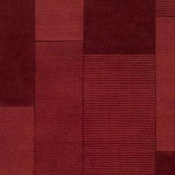 Hand-crafted Solid Casual Red Carlea Wool Rug (8' x 10') - Thumbnail 1