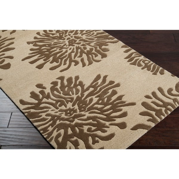 Shop Hand Tufted Contemporary Ivory Brown Danka New