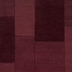 Hand-crafted Solid Casual Burgundy Ducky Wool Rug (8' x 10') - Thumbnail 2