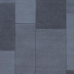 Hand-crafted Solid Casual Blue Peeble Wool Rug (8' x 10') - Thumbnail 2