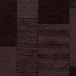 Hand-crafted Solid Casual Dark Brown Minima Wool Rug (8' x 10')