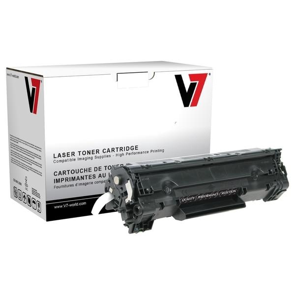 V7 Black High Yield Toner Cartridge for HP LaserJet P1002, P1003, P10