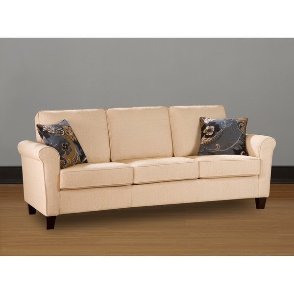 Landon Butter Cream Sofa Free Shipping Today Overstockcom