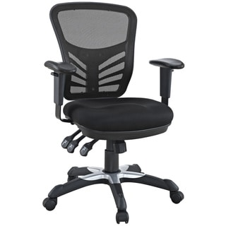 Good Modway Articulate Black Mesh Office Chair With Dual Caster Wheels, Model  W 757