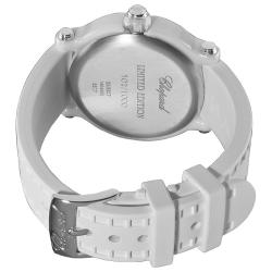Chopard Women's 288507-9012 'Happy Sport Round' White Ceramic Quartz Watch