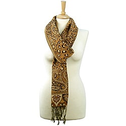 LA77 Paisley and Leopard Print Scarf