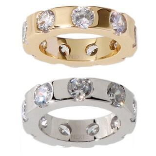 Link to NEXTE Jewelry Kuruma White Cubic Zirconia Brass Eternity Band Similar Items in Rings