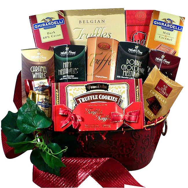 Decadent Chocolate Truffle Treats Gift Basket