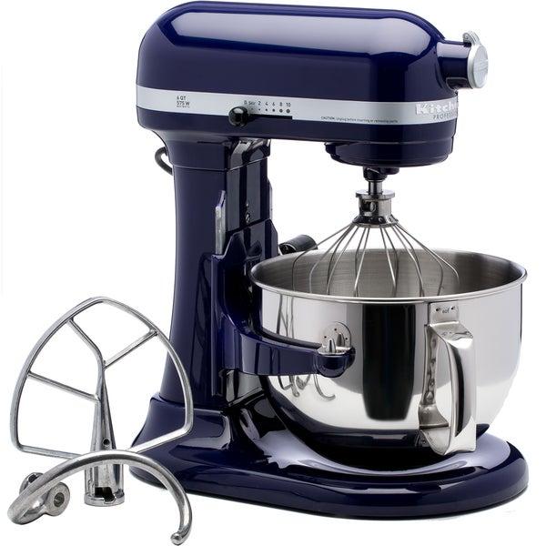 Shop Kitchenaid Rkp26m1xbu Cobalt Blue 6 Quart Pro 600