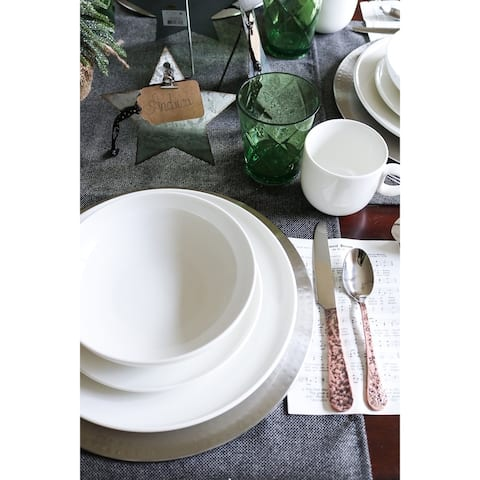 "Every Time White Coupe Dinner Plates 11"" (Set of 6)"