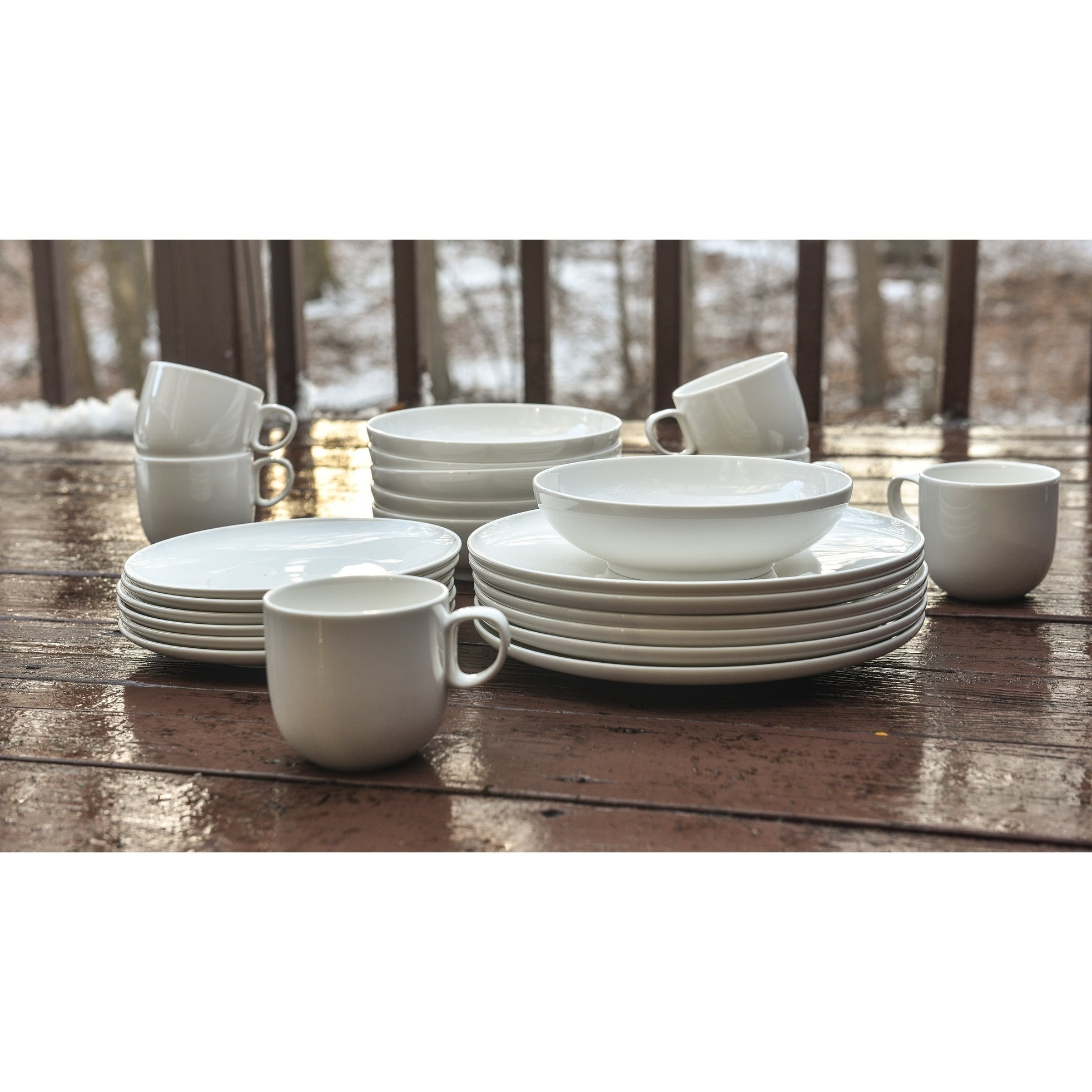 Every Time White Coupe Dinner Plates 11 Set Of 6 On Sale Overstock 6481619