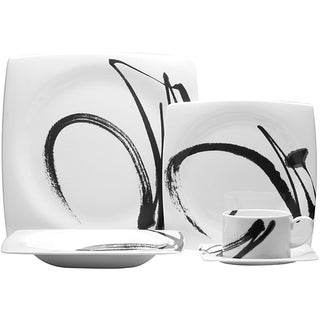 Red Vanilla 'Paint it Black' 20-piece Dinner Set