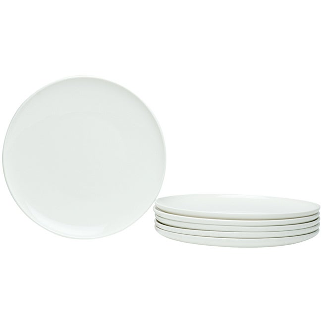 Red Vanilla Everytime White Coupe 8.5-inch Salad Plates (Pack of 6)